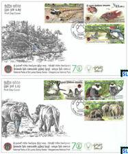 Sri Lanka Stamps 2019, Wasgamuwa National Park, Bird, Fish, Elephant, FDCs