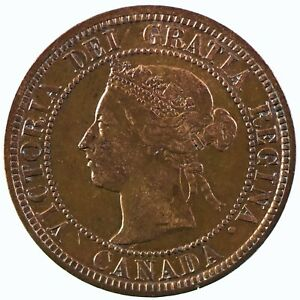 Canada: Victoria  1888 Large Cent, Better Grade, Collectible