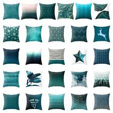 Blue Green Geometric Printing Sofa Cushion Cover Throw Pillow Case Home Decor
