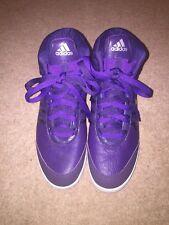 Adidas De Cuero Púrpura HI-TOPS SIZE UK 7 * C1