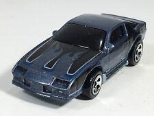Hot Wheels 2007 Blown Camaro Z-28 Metallic Satin Blue w/ Flames Malaysia Loose