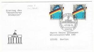 Bundesrepublik Bund 1990 MiNr. 1481 II m. Plattenfehler auf Brief Selten !