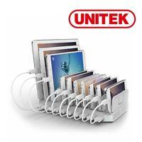 Charge Station 10Port USB Unitek MultiDevice Hub Charging Dock iPhone Tablet 60W