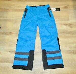 NWT Obermeyer Junior Dane Pant Ski Snow Size L Teen Boy's Blue Orig $129