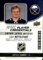 2018-19 MVP NHL Player Credentials Entry Level Access #NHLMI Casey Mittelstadt