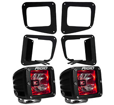 Rigid Radiance LED Fog Light Kit Red Backlight for 14-17 Toyota Tundra 20202