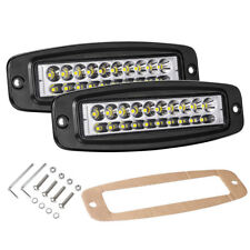 """2X 7""""in Flush Mount Cree LED Work Light Bar Combo Driving Reverse Off Road Truck"""