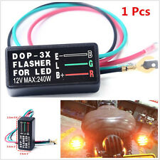 Waterproof DC12V 3-Pin Motorcycle ATV Flasher Blinker Relay Turn Signal LED Lamp
