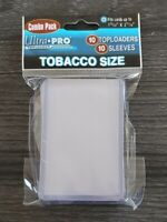 Ultra PRO Tobacco Card 10 Sleeves 10 Toploaders Sports Trading Combo Pack