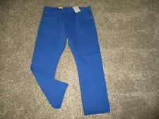 NEW MENS BRIGHT BLUE LEVI'S 501 BUTTON FLY JEANS sz 38x30 NWT royal