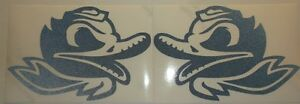Oregon Ducks Combat Duck Decal Car Window Sticker Vinyl 6 X 4 Inches PAIR