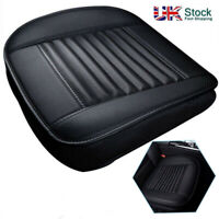 Car Front Seat Chair Cushion PU Leather Soft Pad Cover Black Protector Mat