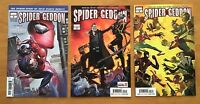 Spider-Geddon 0,2,3 2018  Clayton Crain, Jorge Molina Covers  Marvel Comics NM