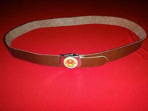 Socialist Republic Of Vietnam VC Vinyl Belt With Raised Emblem On Metal Buckle