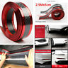 2.5m Car Door Sill Scuff Plate Guard Pedal Protector Strips 5cm Carbon Fiber Red
