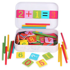 Wooden Stick Magnetic Mathematics Puzzle Education Number Toy SU
