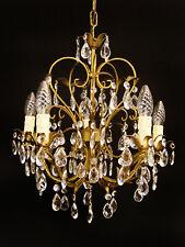 florentiner Kronleuchter Deckenlampe Glas Kristall restauriert