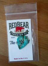 Red Bear Plectrum Pick Big Jazzer Plus Extra Heavy Gauge Bevels RustyTurquoise C