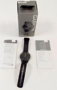 NO CHARGER Black Boxed Garmin Vivomove HR Hybrid Smartwatch Digital #141