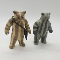 Vintage 1984 Star Wars Kenner Logray & Teebo Ewok Action Figure Lot of 2 ROTJ