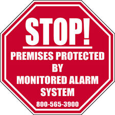 Stop Silent Alarm Monitored Alarm Sticker Decal waterproof outdoor high quality