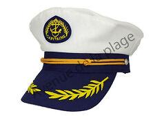 Casquette de marin Capitaine adulte ajustable légère et confortable neuf