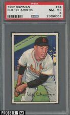 1952 Bowman SETBREAK #14 Cliff Chambers St. Louis Cardinals PSA 8 NM-MT
