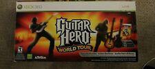 Xbox 360 Guitar Hero World Tour Complete Dual Guitar Game Bundle. NEW, rare!