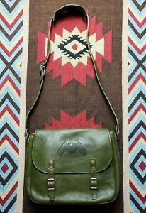 RRL Double RL Ralph Lauren Leather Shoulder Messenger Portfolio Mail Bag