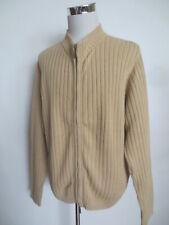 Cardigan LE FROG Strickjacke XL Baumwolle beige /G3