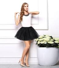 Women's Fashion Dancewear Tulle Tutu Mini Ballet Pettiskirt Princess Party Skirt