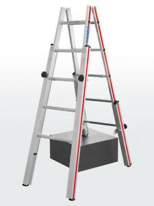 Hymer 4123 Treppenstehleiter, beidseitig begehbar, 2x5 bis 2x8 Sprossen