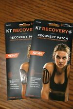 KT Tape Recovery Patch Black Therapeutic Relief 4 Patches (2 packages)