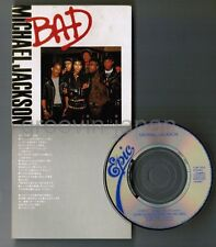 "MICHAEL JACKSON Bad JAPAN 3"" CD 10.8P-3002 1988 issue Snapped,P/S Torn Free S&H"