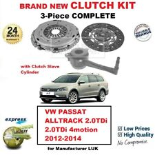 Para VW Passat Alltrack 2.0TDi 4motion 2012-2014 Nuevo 3PC Kit de Embrague + Csc