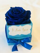 Forever Eternal Preserved Immortal Real Single Medium Royal Blue Rose Gift
