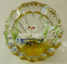 """Ltd Ed Caithness William & Kate """"Royal Swans"""" Paperweight(37/40) - <3 1/4"""""""