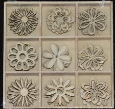 Kaisercraft Ldb1055 Lucky DIP Wooden Shapes 4 Flowers 1.25 In.