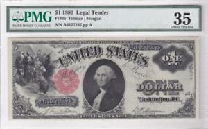 1880 US Legal Tender $1 DOLLAR NOTE Fr 35 Tillman Morgan PMG 35