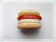Magnet Aimant en Relief Hamburger avec Fromage en Résine