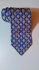 LOEWE Madrid 1846 Neck Tie Silk Blue Brown Pattern Luxury Men's Classic Necktie