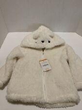 Nwt Gymboree Full Zip Faux Fur Polar Bear fleece hoodie Infant Baby 18-24 Month