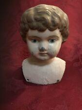 """Minerva Metal Doll Head Brunette 5.5"""""""