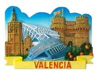 Valencia Magnet Souvenir Spanien Espana Spain 7 cm,Neu !