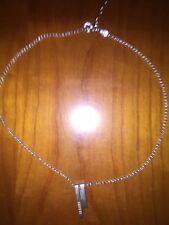 Fossil Kette Silber 925 inclusive  Silberanhänger mit Zirkonia neu+Schmuckdose