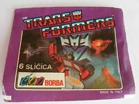 Bustina con 6 Figurine Transformers 1991 Cao Borba Made in ITALY