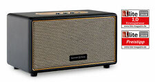 Retro Vintage Bluetooth Lautsprecher Leder Optik drahtlos Stereo MP3 Box USB AUX
