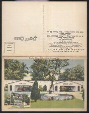 Postcard NEW ORLEANS Louisiana/LA  Avalon Motel Motor Court w/Area Map