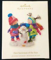 Hallmark Keepsake Christmas Ornament First Snowman of the Year 2008 #QXG7231 DV7