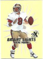 1999 Skybox EX Century Bright Lights Yellow #5BL Steve Young San Francisco 49ers
